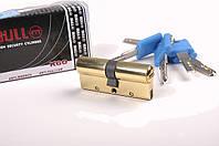"""Ключевой цилиндр тм BULL с противовзломными пластинами с дополнительной степенью защищенности """"дорожка на ключ 70(35х35В), SN-сатин, KL-ключ поворотник"""