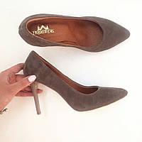 Стильные женские туфли - лодочка на шпильке из натуральной турецкой кожи Натуральная кожа, Бежевый2