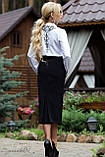 Строгая деловая юбка карандаш черного цвета, фото 2