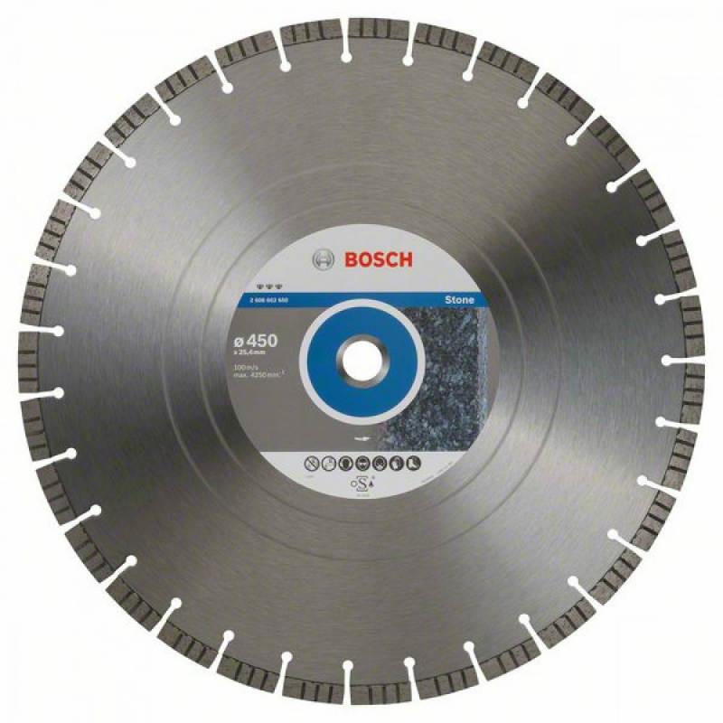 Алмазний відрізний круг Bosch Best for Stone450x25,4