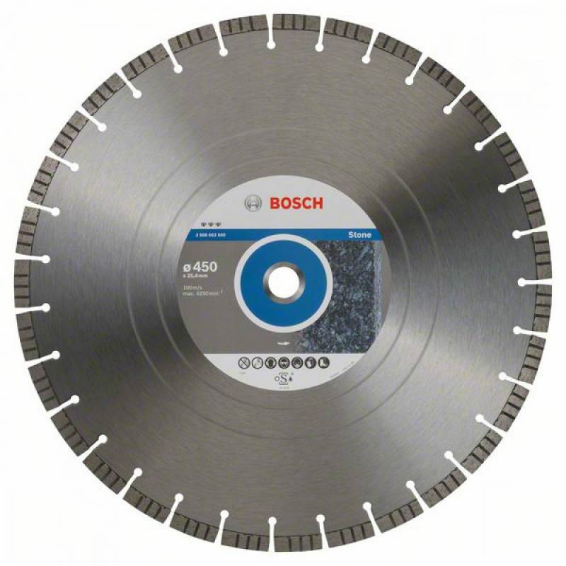 Алмазный отрезной круг Bosch Best for Stone450x25,4