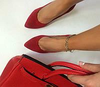 Стильные женские туфли - лодочка на шпильке из натуральной турецкой кожи Натуральная кожа, Красный2