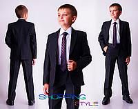 Школьная форма для мальчика костюм Влад, деловой кстюм полосатый детский