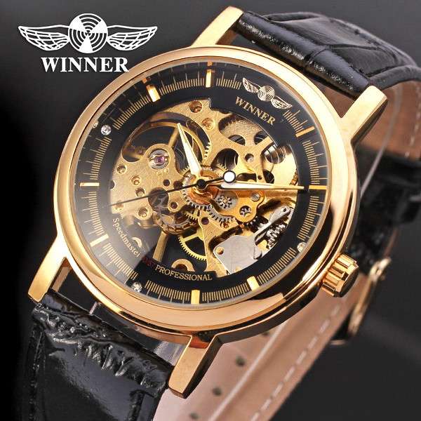 7a4c35027b21 Winner Skeleton наручные мужские часы, механические, стрелочные
