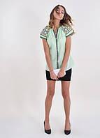 Молодежная блуза вышиванка в современном стиле с оригинальной вышивкой