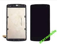 Дисплей LG D290 L Fino, D295 ,черный+сенсор+рамка