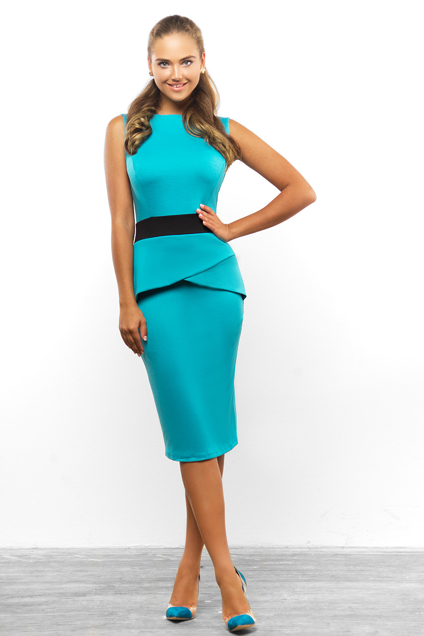 Деловое трикотажное платье от Lusien  34-0815, фото 1