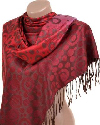 Изумительный женский кашемировый палантин размером 70*180 см Подиум 32067-4 (темно-красный)
