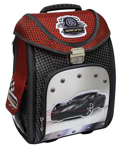 """Каркасный школьный рюкзак-трансформер 14"""" """"Black Car"""" 711 COOL4SCHOOL (CF85652) черный/красный"""
