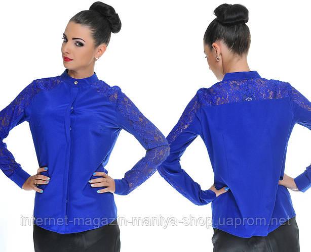 Блузка женская вставки гипюра