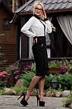 Классическая элегантная деловая юбка черная, фото 2