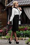 Классическая элегантная деловая юбка черная, фото 3