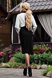 Классическая элегантная деловая юбка черная, фото 5