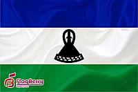 Флаг Лесото 80*120 см.,флажная сетка.,2-х сторонняя печать