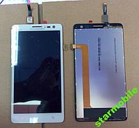 LCD Дисплей+сенсор Lenovo S856 белый оригинал