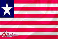 Флаг Либерии 90*135 см., атлас плотный.,1-но сторонняя печать
