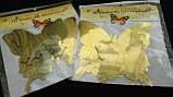 Бабочки 3Д (зеркальные золотые), фото 5