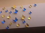 Бабочки 3Д (зеркальные золотые), фото 4