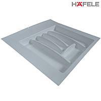 Лоток для столовых приборов белый Hafele (Германия) в ящик 500-550 мм. 503х498