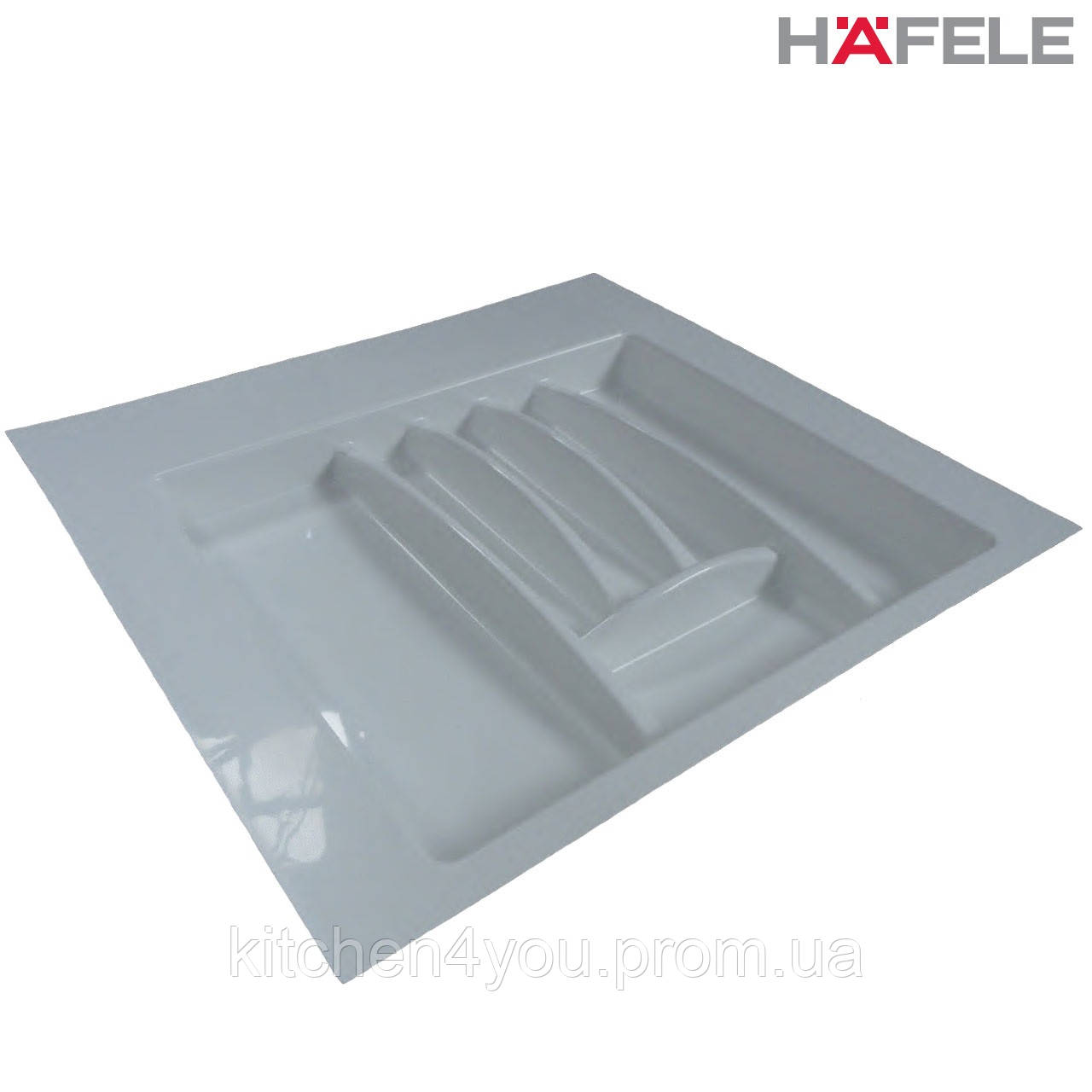 Лоток для столовых приборов белый Hafele (Германия) в ящик 600 мм. 553х498 мм.