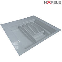 Лоток для столовых приборов белый Hafele (Германия) в ящик 600 мм. 553х498 мм., фото 1