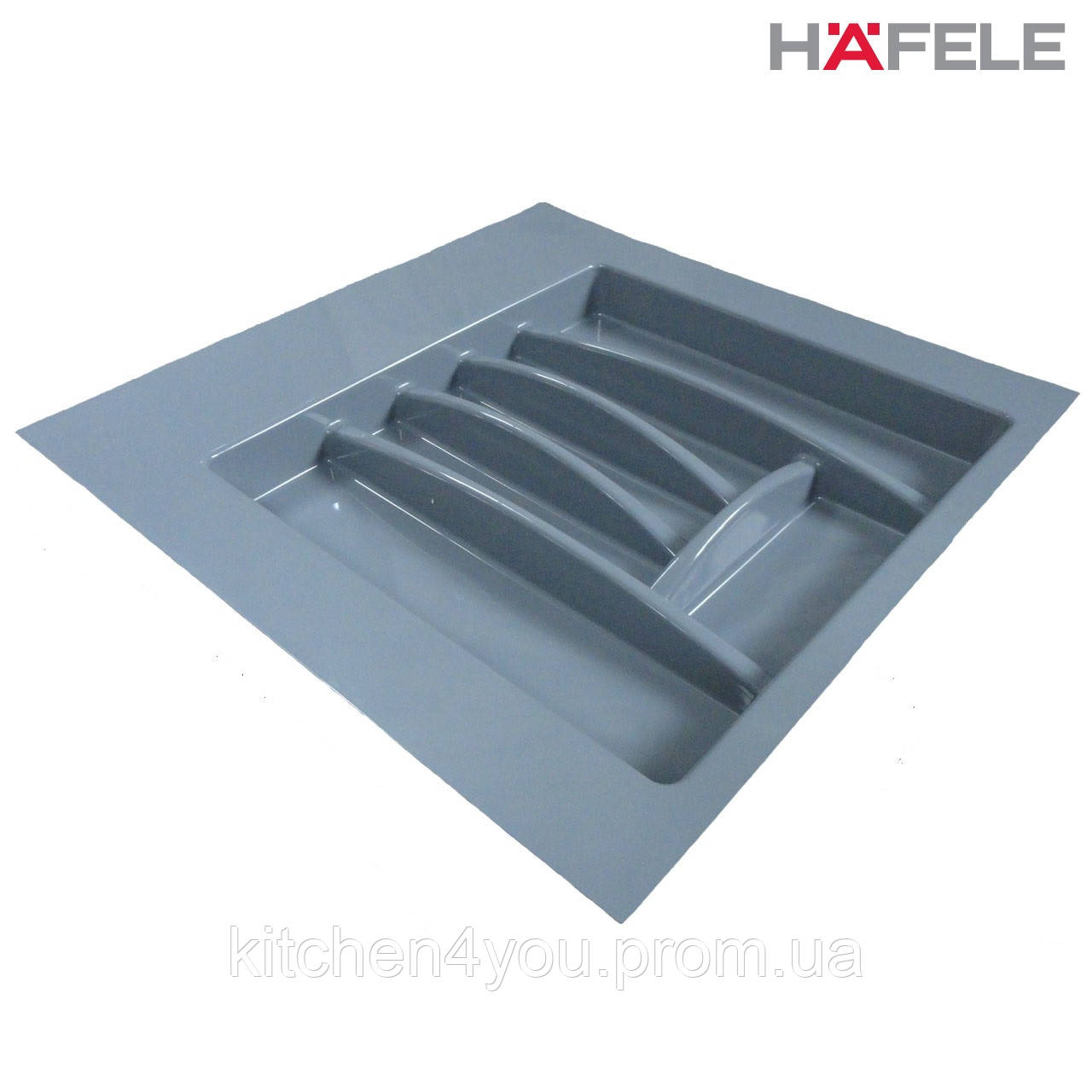 Лоток для столовых приборов серый Hafele (Германия) в ящик 500-550 мм. 503х498