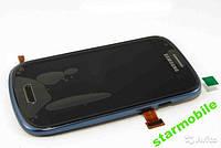 Дисплей для мобильного телефона Samsung i8190, Galaxy S3 Mini, синий, с тачскрином, с рамой ORIGINAL