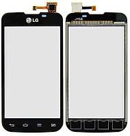 Сенсорная панель для LG E455 Optimus L5 II Dual черная High Copy