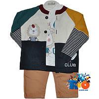"""Детский оригинальный костюм """"Club"""" , для мальчиков от 6-9 мес"""