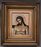 Простой ровный киот для иконы, с внутренней деревянной рамой и золочёными штапиками., фото 3