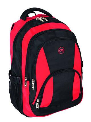 """Функциональный городской рюкзак 16,5"""" для молодежи Contrast, Cool for school CF85668 красный"""