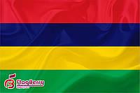 Флаг Маврикия 80*120 см.,флажная сетка.,2-х сторонняя печать