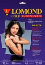 Фотопапір Lomond Satin Gold Baryta ( формат А3+ , щільність 325 г/м2 баритовая папір ) 20 аркушів