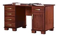 Письменный компьютерный стол из массива дерева 087