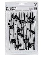 Папка для тиснения от Xcut - Blossom Stripes, формат А5, 1 шт