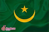 Флаг Мавритании 90*135 см., атлас плотный.,1-но сторонняя печать