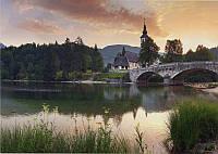 Фотообои на плотной бумаги для стен 272*196 см 8 листов: Природа, Разное, Старый Мост №29