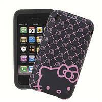 Чехол для телефона Original Silicon Case iPhone 6 cтразы в блистере (Hello Kitty)