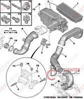Патрубок воздушного фильтра (к турбине) Fiat Scudo (2007-……) 1434 E1
