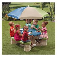 Столик Step2 для пикника с зонтиком 8438