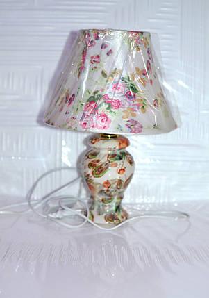 Лампа настольная, 1 лампа, недорого, высота лампы - 22 см, диаметр абажура - 20 см., фото 2
