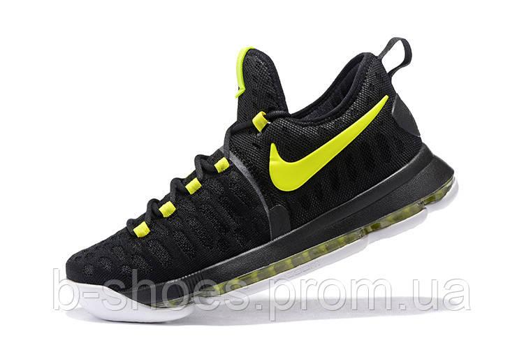 Мужские баскетбольные кроссовки Nike KD 9 (Black-Neon Green)