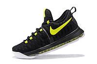 Мужские баскетбольные кроссовки Nike KD 9 (Black-Neon Green), фото 1