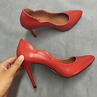 Стильные женские туфли - лодочка на шпильке из натуральной турецкой кожи