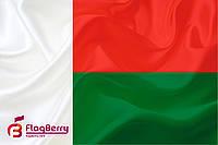 Флаг Мадагаскара 100*150 см.,флажная сетка.,2-х сторонняя печать