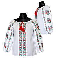 Детская нарядная вышитая блуза для девочки Радуга