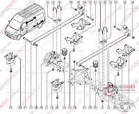 """Серьга рессоры (сайлентблок рессоры, скоба """"задний привод - 1 шт"""" двухкатковый - спарка) Renault Master IV"""
