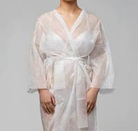 Халат-кимоно одноразовый спанбонд с рукавами