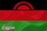 Флаг Малави 80*120 см.,флажная сетка.,2-х сторонняя печать
