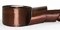 Атласная лента, ширина 5 см, 1 м, цвет темно-коричневый